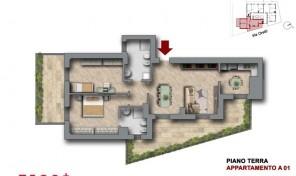 Bologna–Mazzini–Via Oretti–Nuovo Appartamento mq.114 (A1)