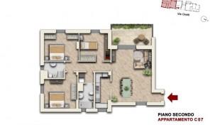 Bologna–Mazzini–Via Oretti–Nuovo Appartamento mq.140 (C7)