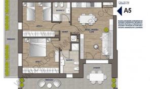 Trilocale nuovo con terrazzo abitabile, Anzola Dell'Emilia (A5)
