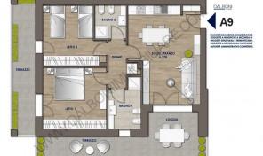 Trilocale nuovo con terrazzo abitabile, Anzola Dell'Emilia (A9)
