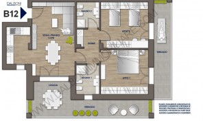 Trilocale nuovo con terrazzo abitabile, Anzola Dell'Emilia (B12)