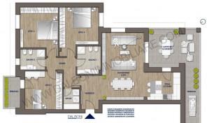 Attico nuovo con terrazzo abitabile, Anzola Dell'Emilia (B13)