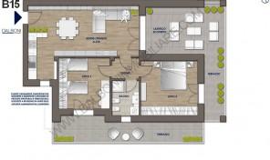 Attico nuovo con terrazzo abitabile, Anzola Dell'Emilia (B15)