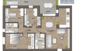 Quadrilocale nuovo con terrazzo abitabile, Anzola Dell'Emilia (B6)
