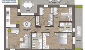 Quadrilocale nuovo con terrazzo abitabile, Anzola Dell'Emilia (B7)
